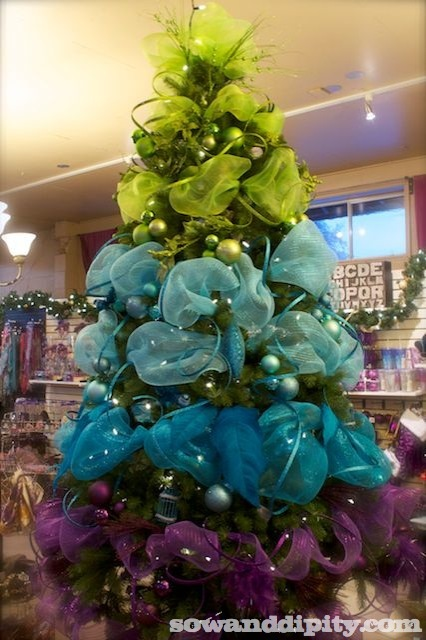 christmas decorations - Lime Green And Blue Christmas Decorations