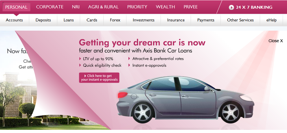 Car Loan Interest Rate India Axis Bank