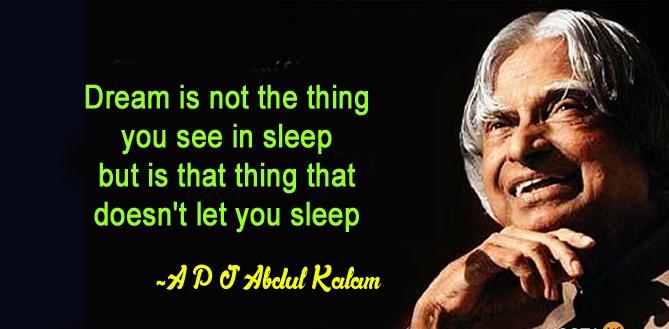 abdul kalam inspirational quotes pdf